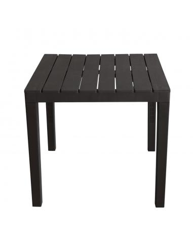 TABLE BALI CARREE ANTHRACITE