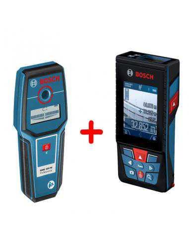 Pack Détecteur GMS 100 M Professional avec Télémètre laser GLM 120 C Professional