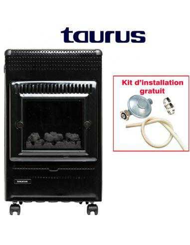FARO Chauffage à gaz Imitation du bois Taurus - 1
