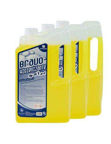 Detergent desinfectant pour toute surface 3 Bidons/4L - BRAVO HIGIENIZANTE