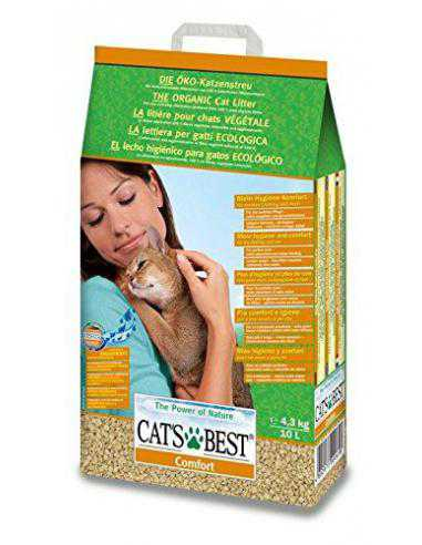 litière Comfort Absorbante 10L - CATS BEST - 1