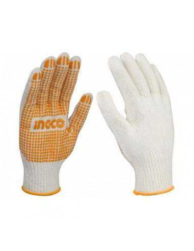 Gants tricotés PVC XL - INGCO
