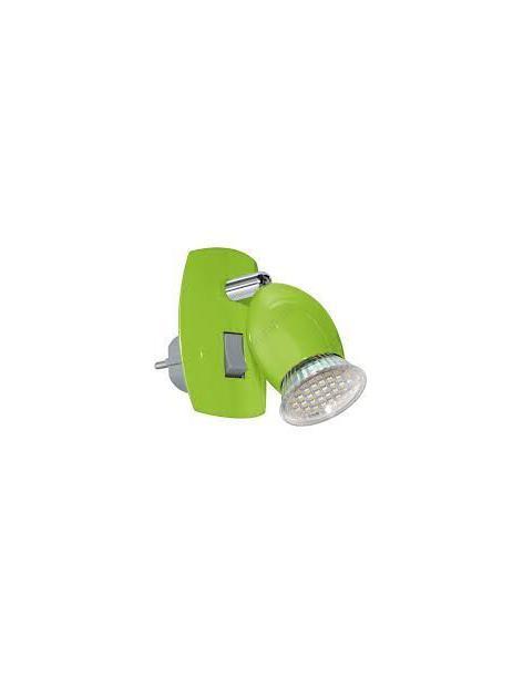 AMPOULE plug-in lamp/1 green/chrome 'BRIVI 1' EGLO