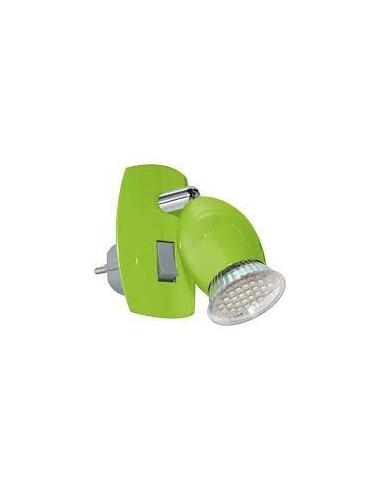 AMPOULE plug-in lamp/1 green/chrome 'BRIVI 1' EGLO - 1