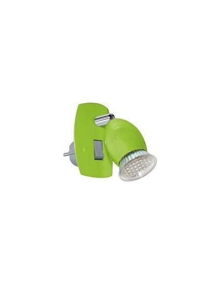 AMPOULE plug-in lamp/1 green/chrome 'BRIVI 1' EGLO