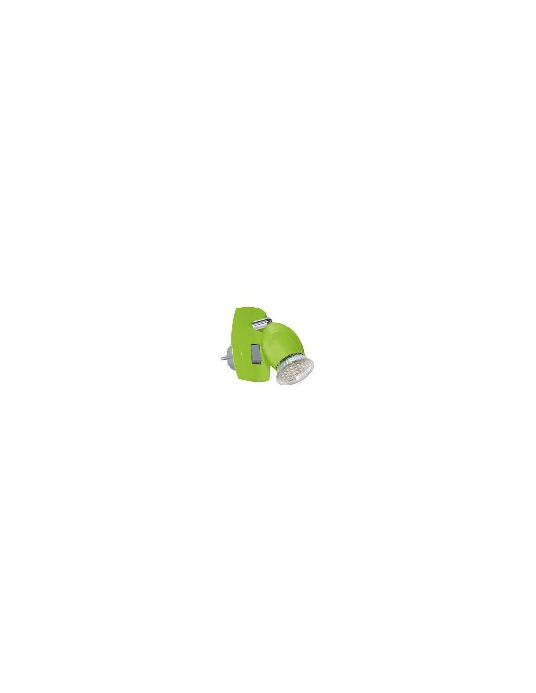 AMPOULE plug-in lamp/1 green/chrome 'BRIVI 1' EGLO - 1