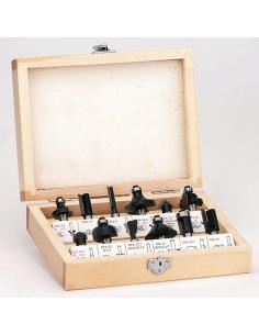 Set de fraisage en caisse bois de 12 pièces -Einhell