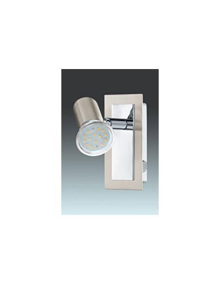 LAMPE LS/1 GU10 NICKEL-MATT/CHROM 'BUZZ 1' - EGLO - 1
