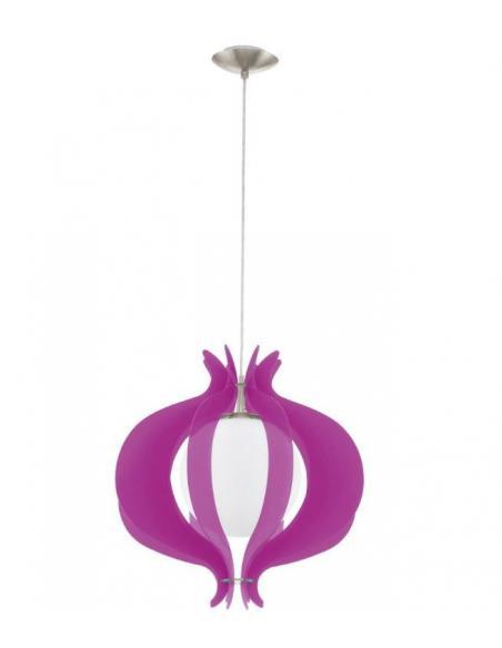 LAMPE L/1 nickel-m/opal-m/purple 'TALLEGO' - EGLO