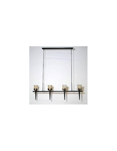 LAMPE hanging lamp/4 antique-brown, 4x40W - EGLO - 1