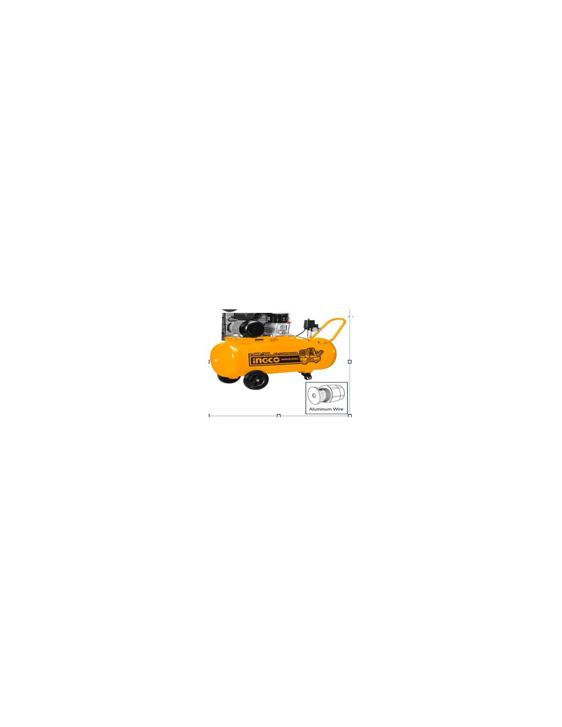 Compresseur INGCO 50L 220-240V~50Hz Power: 2.2 kW - 1